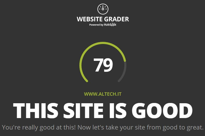 ALTECH Website Grader marzo 2017